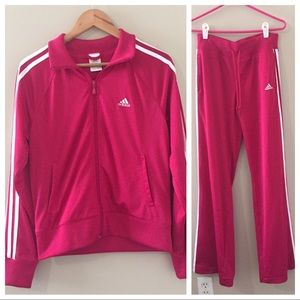 Adidas Pink Track Suit